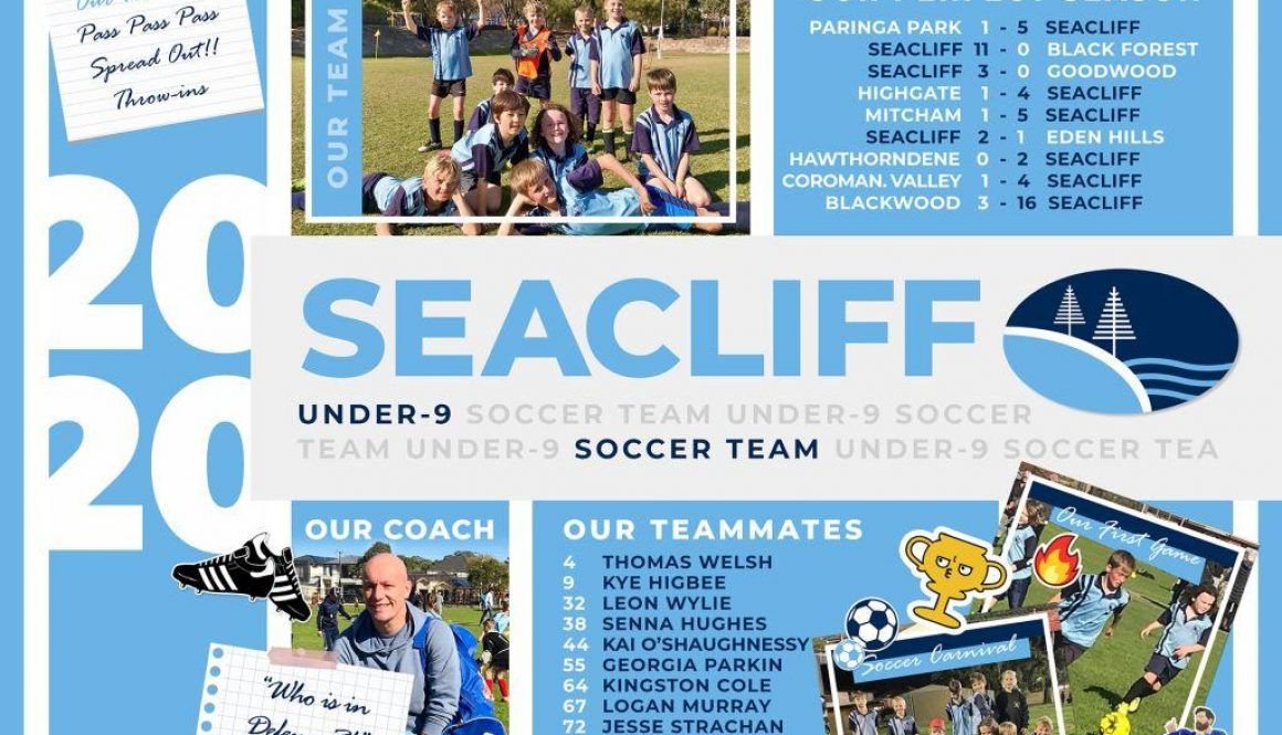 Seacliff Under 9 Soccer Team Poster comp